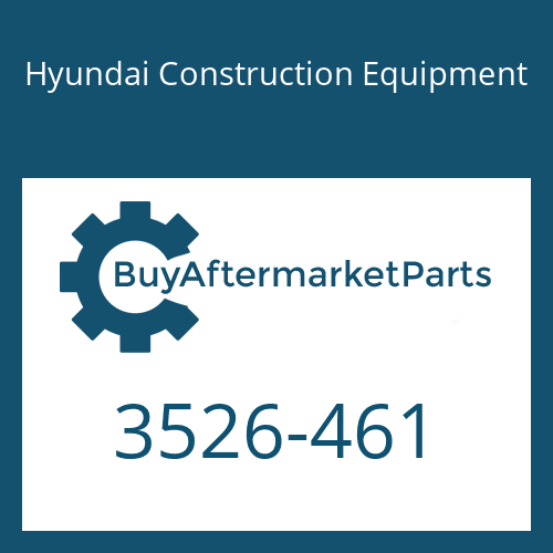 Hyundai Construction Equipment 3526-461 - Cap