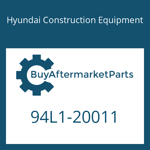 Hyundai Construction Equipment 94L1-20011 - DECAL-TOOL LIST