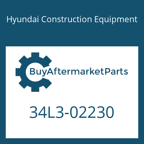 Hyundai Construction Equipment 34L3-02230 - COVER