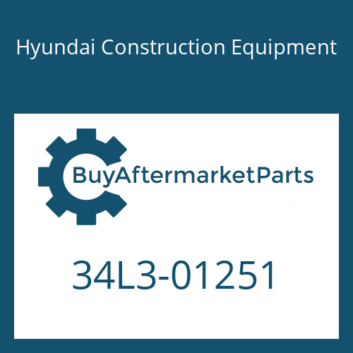 Hyundai Construction Equipment 34L3-01251 - COVER