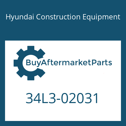 Hyundai Construction Equipment 34L3-02031 - COVER