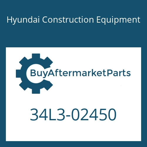 Hyundai Construction Equipment 34L3-02450 - PLATE