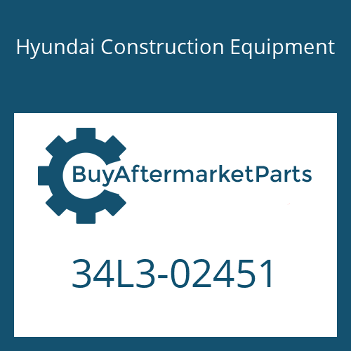 Hyundai Construction Equipment 34L3-02451 - PLATE