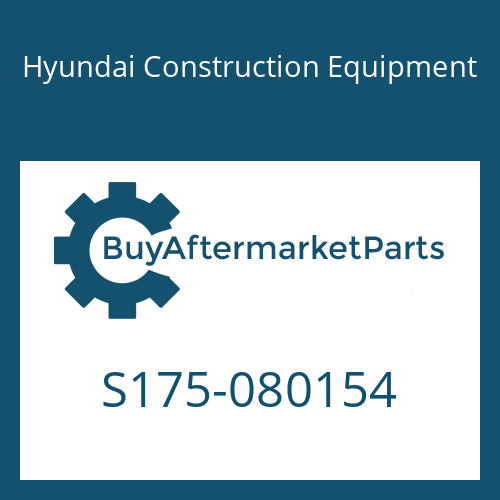 Hyundai Construction Equipment S175-080154 - BOLT-SOCKET