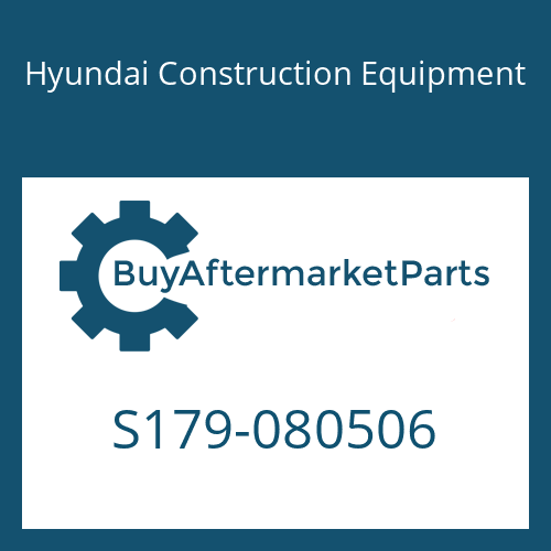 Hyundai Construction Equipment S179-080506 - BOLT-SOCKET