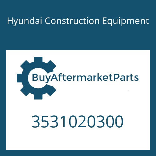 Hyundai Construction Equipment 3531020300 - Shaft-D/Wheel
