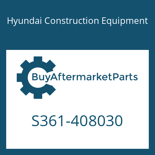 Hyundai Construction Equipment S361-408030 - Plate-Tapped,2 Hole