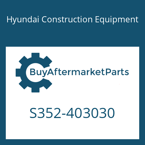 Hyundai Construction Equipment S352-403030 - Plate-Tapped,1 Hole