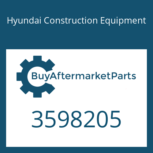 Hyundai Construction Equipment 3598205 - Housing-Turbine