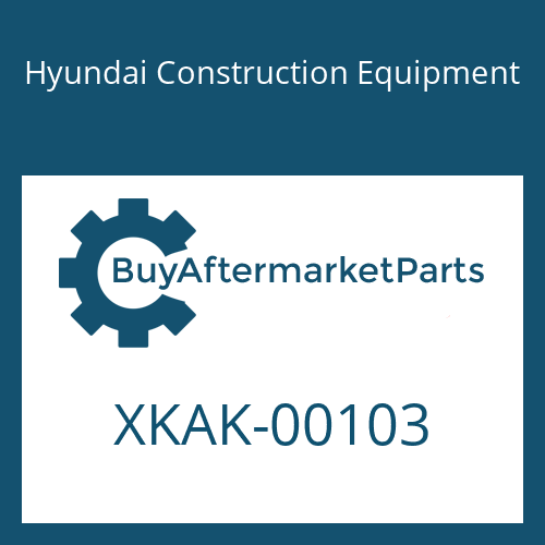 Hyundai Construction Equipment XKAK-00103 - PAD-RUBBER