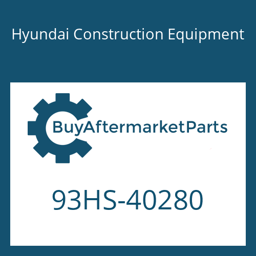 Hyundai Construction Equipment 93HS-40280 - DECAL-ECU