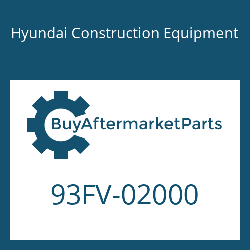Hyundai Construction Equipment 93FV-02000 - DECAL-MODEL NAME