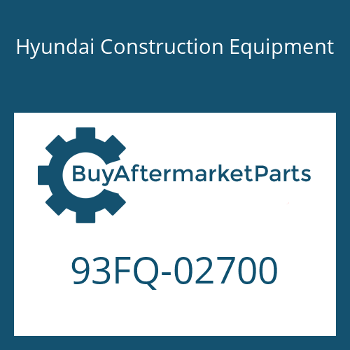 Hyundai Construction Equipment 93FQ-02700 - DECAL-MODEL NAME