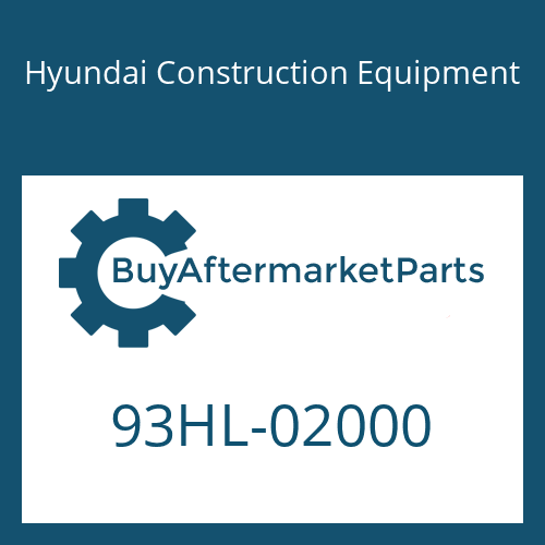 Hyundai Construction Equipment 93HL-02000 - DECAL-MODEL NAME