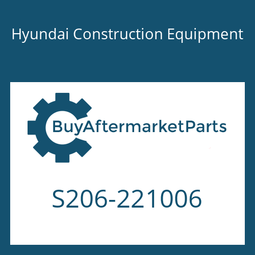Hyundai Construction Equipment S206-221006 - NUT-HEX