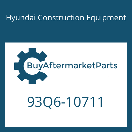 Hyundai Construction Equipment 93Q6-10711 - Decal-Specification