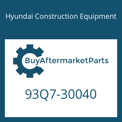 Hyundai Construction Equipment 93Q7-30040 - MANUAL-OPERATOR