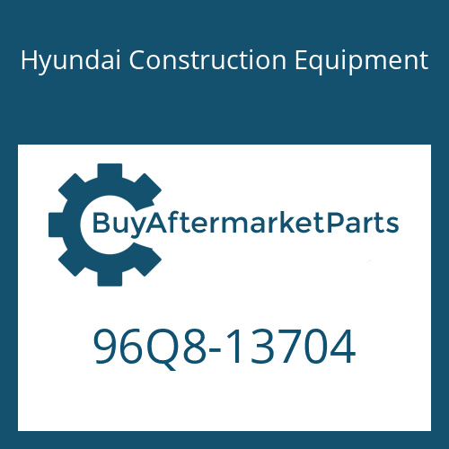 Hyundai Construction Equipment 96Q8-13704 - Decal-Service Instruction
