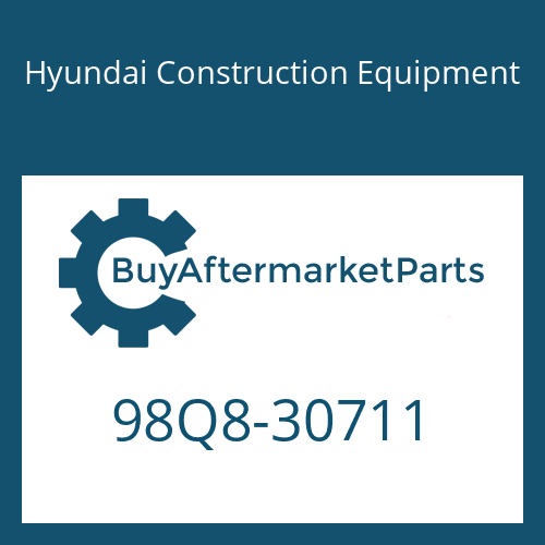 Hyundai Construction Equipment 98Q8-30711 - DECAL-SERVICE INSTRUCTION