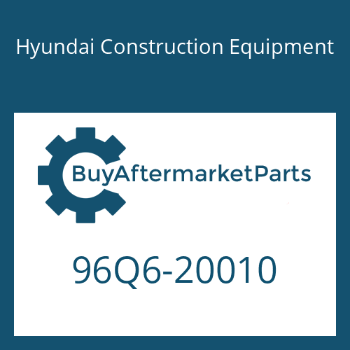 Hyundai Construction Equipment 96Q6-20010 - DECAL-MODEL NAME