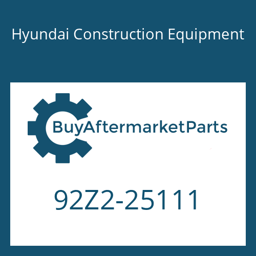 Hyundai Construction Equipment 92Z2-25111 - DECAL-MODEL NAME LH