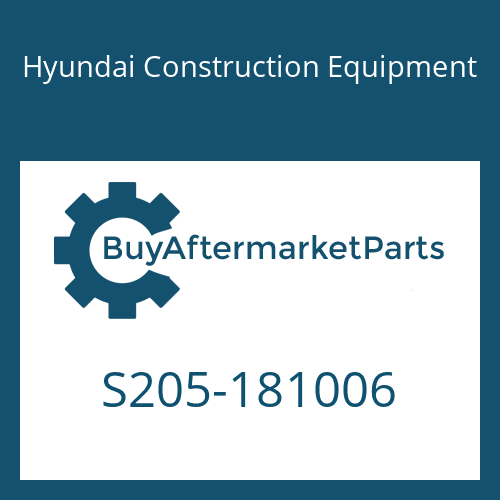 Hyundai Construction Equipment S205-181006 - NUT-HEX