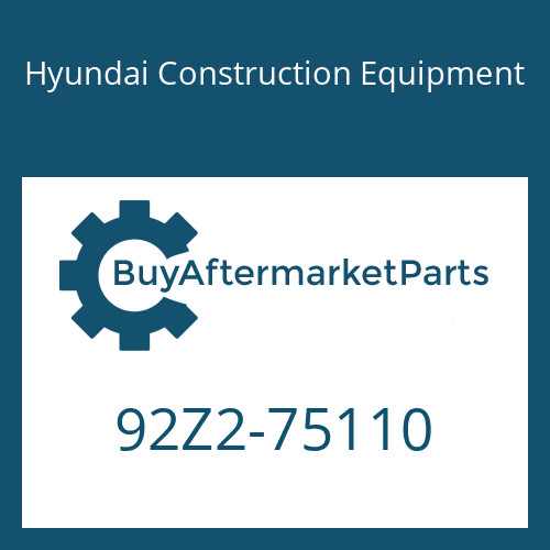 Hyundai Construction Equipment 92Z2-75110 - DECAL-MODEL NAME LH