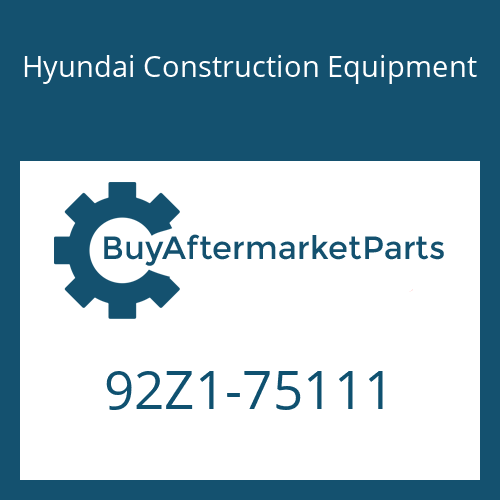 Hyundai Construction Equipment 92Z1-75111 - DECAL-MODEL NAME LH