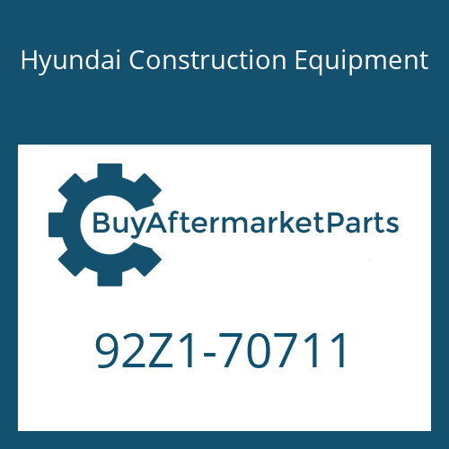 Hyundai Construction Equipment 92Z1-70711 - DECAL-SERVICE INSTRUCTION