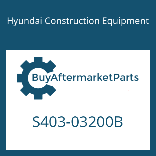 Hyundai Construction Equipment S403-03200B - WASHER-PLAIN