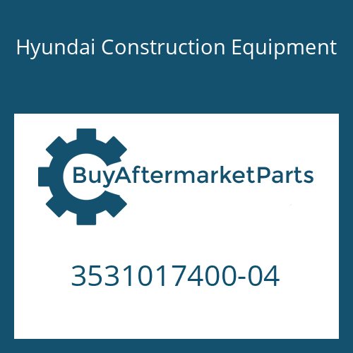 Hyundai Construction Equipment 3531017400-04 - Shaft-Drive
