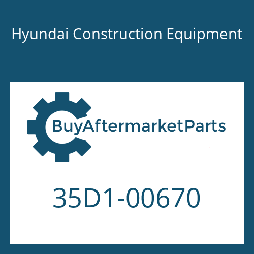 Hyundai Construction Equipment 35D1-00670 - PLATE