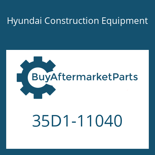 Hyundai Construction Equipment 35D1-11040 - CONNECTOR