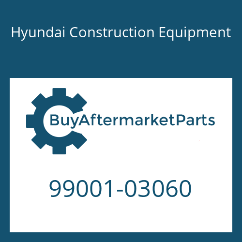 Hyundai Construction Equipment 99001-03060 - PLUG-SHIPPING