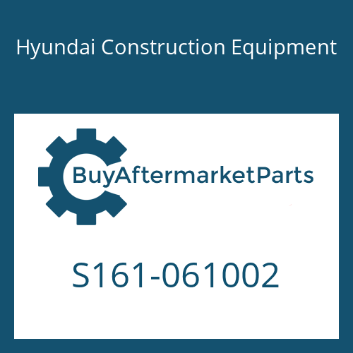 Hyundai Construction Equipment S161-061002 - BOLT-CROSS RD
