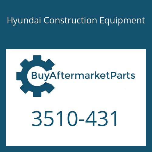 Hyundai Construction Equipment 3510-431 - Plunger