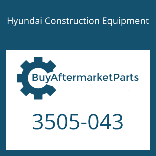 Hyundai Construction Equipment 3505-043 - Retainer