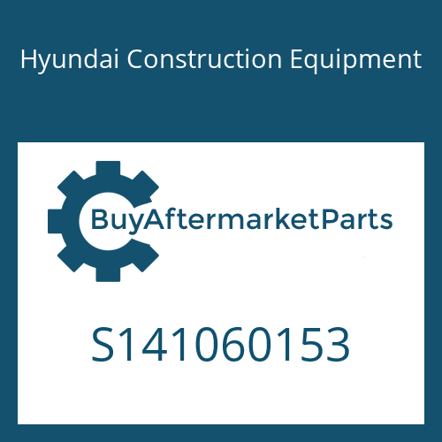 Hyundai Construction Equipment S141060153 - Screw-Cross Recess