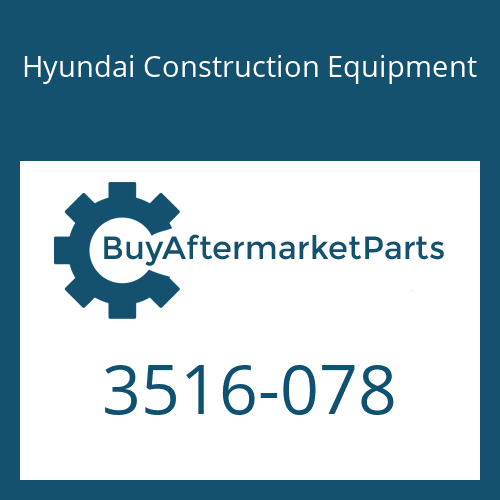 Hyundai Construction Equipment 3516-078 - SLEEVE