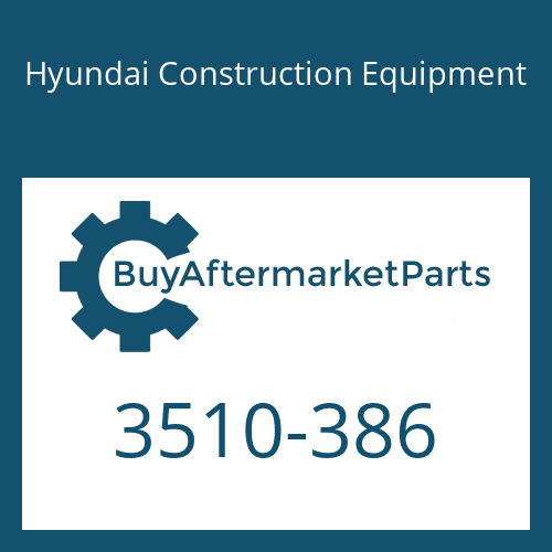 Hyundai Construction Equipment 3510-386 - PLUNGER ASSY