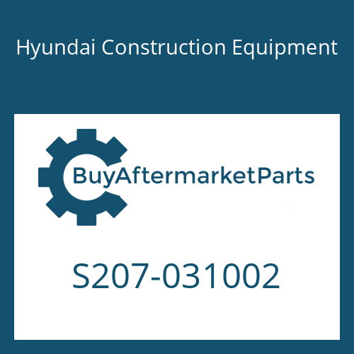 Hyundai Construction Equipment S207-031002 - NUT-HEX