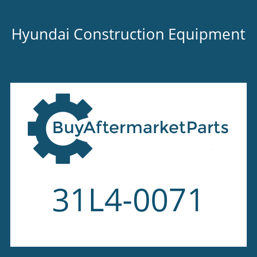 Hyundai Construction Equipment 31L4-0071 - CLAMP-PIPE