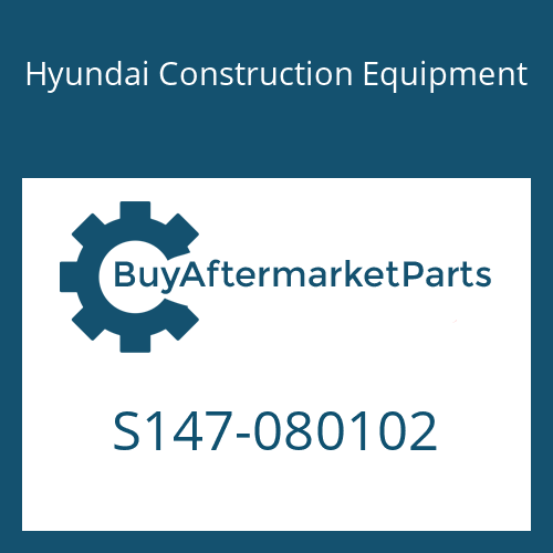 Hyundai Construction Equipment S147-080102 - BOLT-FLAT
