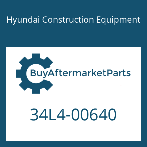 Hyundai Construction Equipment 34L4-00640 - COVER