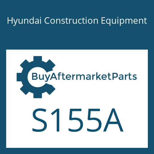 Hyundai Construction Equipment S155A - Screw-Hex Hd Cap