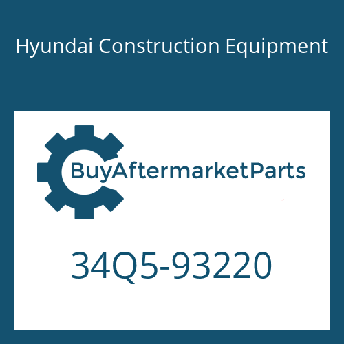 Hyundai Construction Equipment 34Q5-93220 - PIPING KIT-HYD