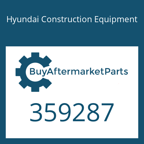 Hyundai Construction Equipment 359287 - PLATE-PRESSURE