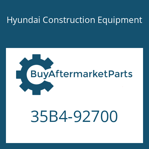 Hyundai Construction Equipment 35B4-92700 - SPACER