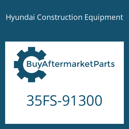Hyundai Construction Equipment 35FS-91300 - PLATE