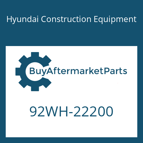 Hyundai Construction Equipment 92WH-22200 - DECAL-NOISE LWA